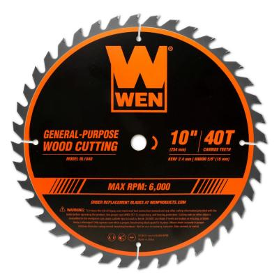 10 in. 40-Tooth Carbide-Tipped Professional Woodworking Saw Blade for Miter Saws and Table Saws