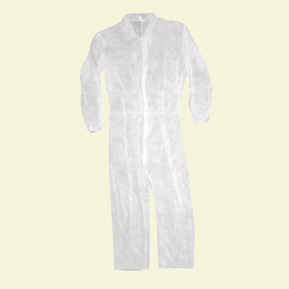 Trimaco Large Polypropylene Coverall with Elastic Back and Wrists