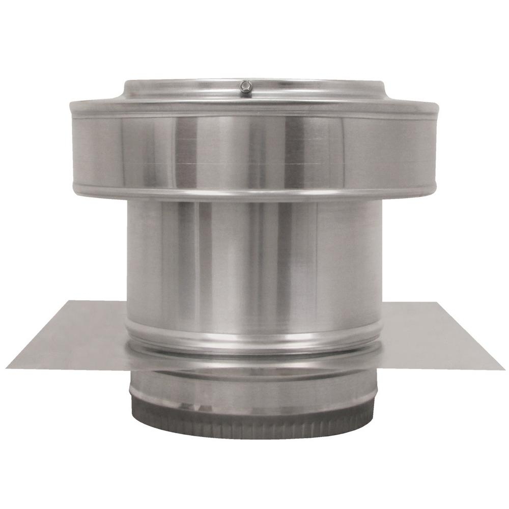 Active Ventilation 7 in. Dia Aluminium Round Back Roof Jack with 4 in. Collar and 2 in. Tail Pipe