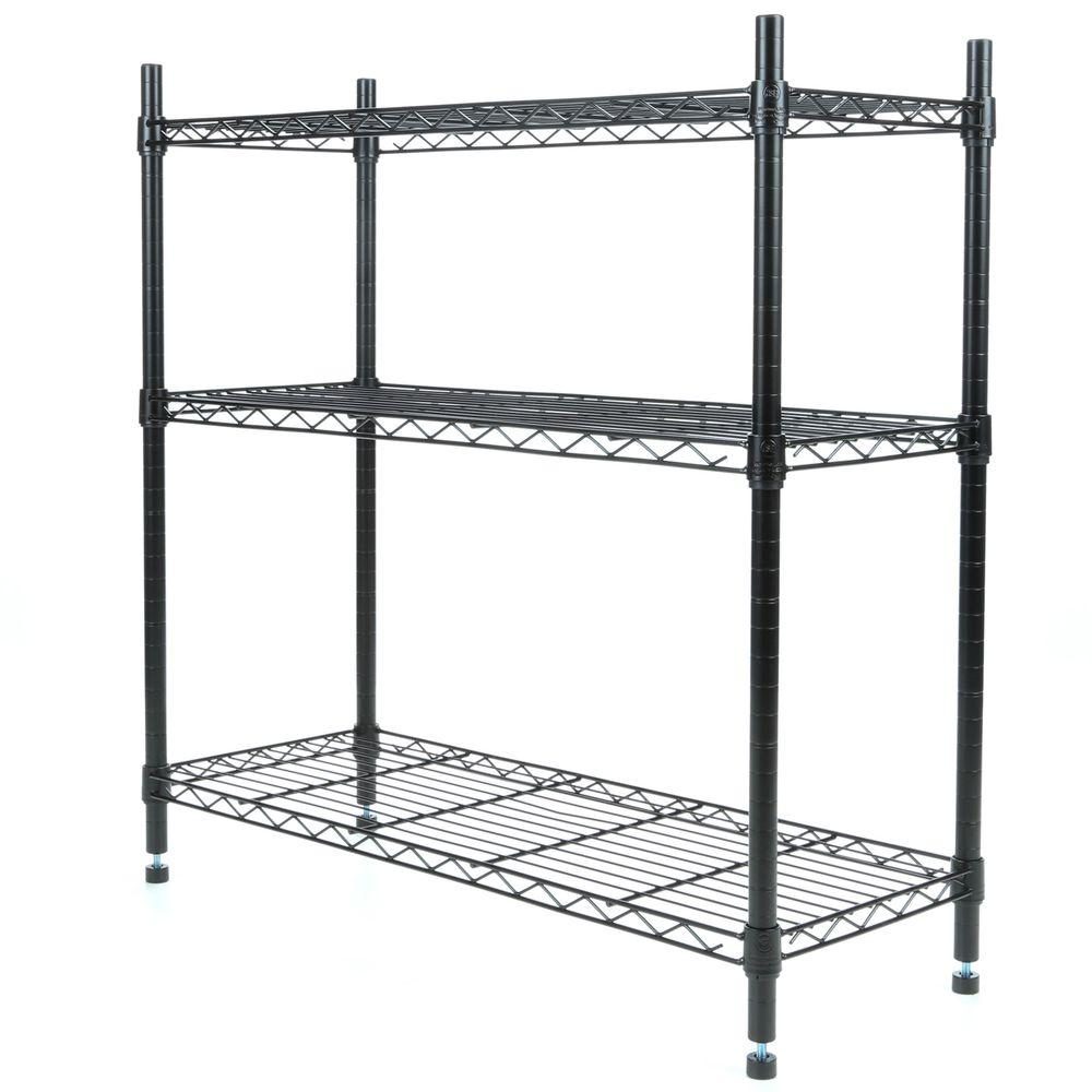 Whitmor Deluxe Rack Collection 36 in. x 36 in. Supreme 3-Tier ...