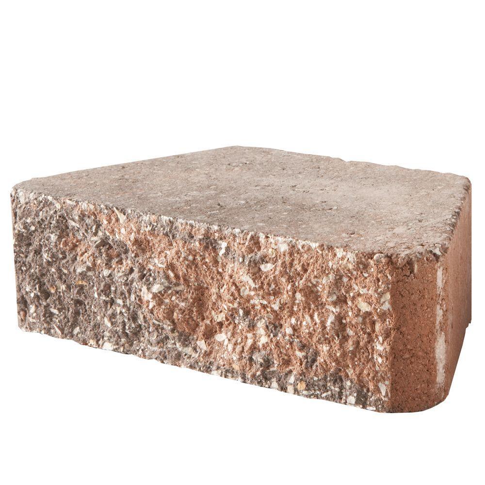 Pavestone 10in 3 in. x 10 in. x 5.88 in. Sierra Blend Concrete Retaining Wall Block
