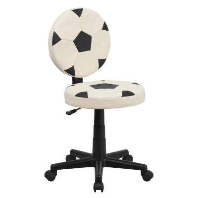 Soccer Black White Task Chair