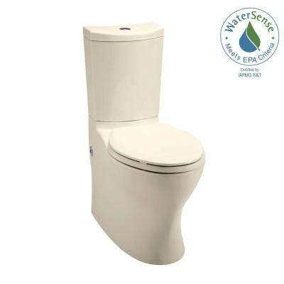 Persuade 2-piece 1.0 or 1.6 GPF Dual Flush Elongated Toilet in Almond