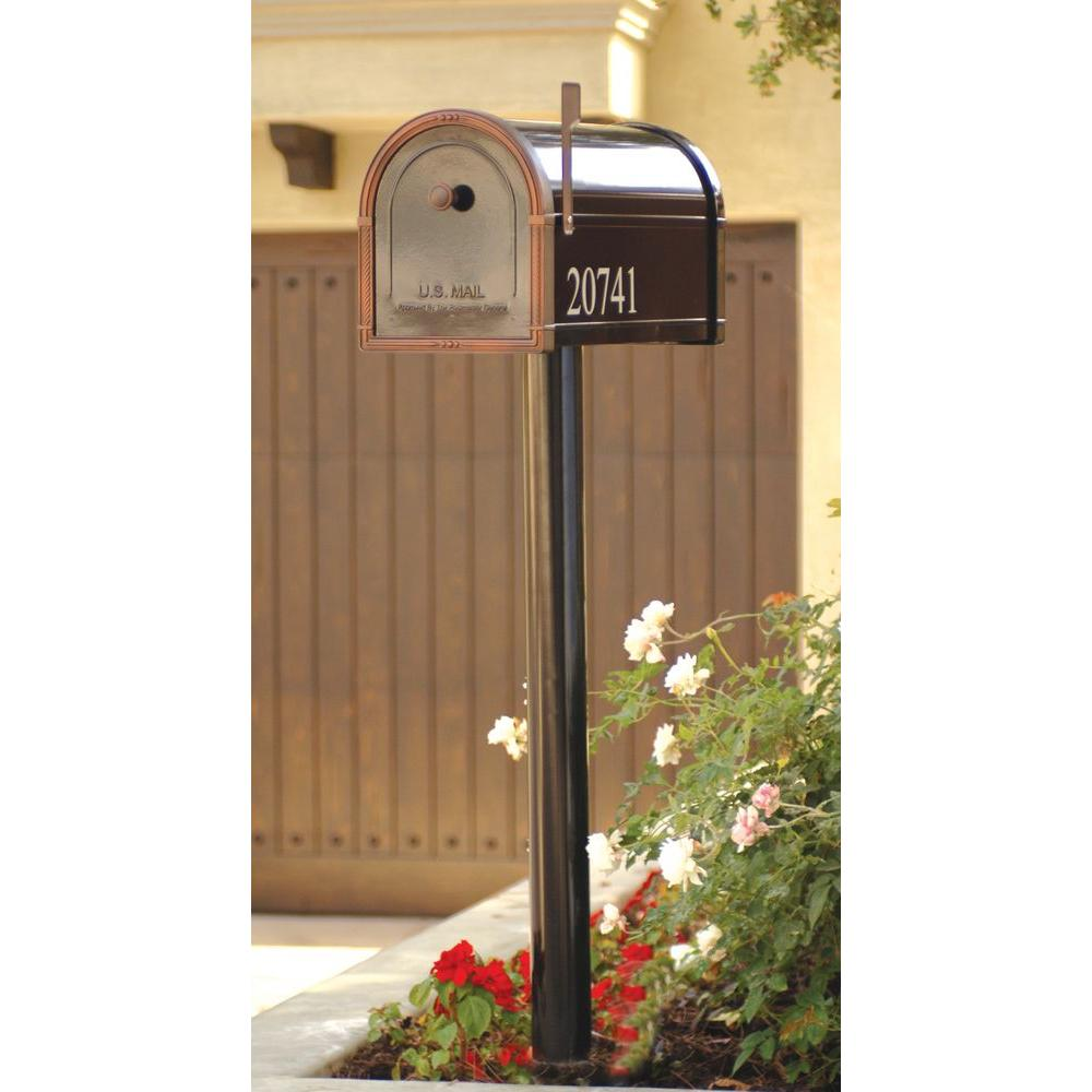 Mailbox Post and Newspaper Port Kit Heavy Duty White Plastic Weather Resistant