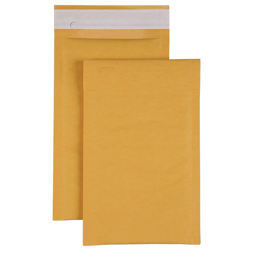 Bubble Cushioned Mailers Envelope, Kraft (200-Carton)
