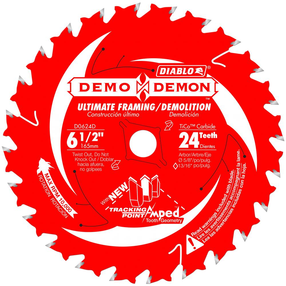 Diablo 6-1/2 x 24T Demo Demon Saw Blade
