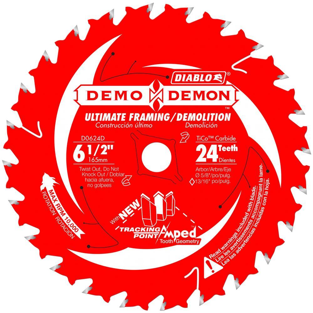 Diablo 6-1/2 x 24T Demo Demon Saw Blade