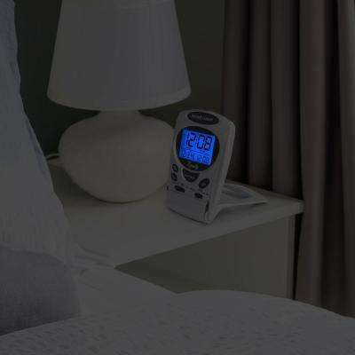 Fold-Up Digital 2.70 in. LCD Travel Alarm Table Clock with Nap Timer and Backlight