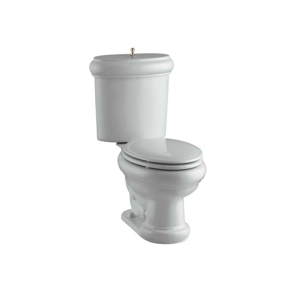 KOHLER Revival 2-piece 1.6 GPF Elongated Toilet in Ice Grey