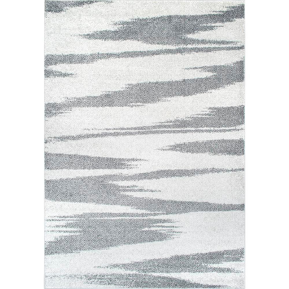 nuLOOM Smantha Zebra Stripes Gray 4 ft