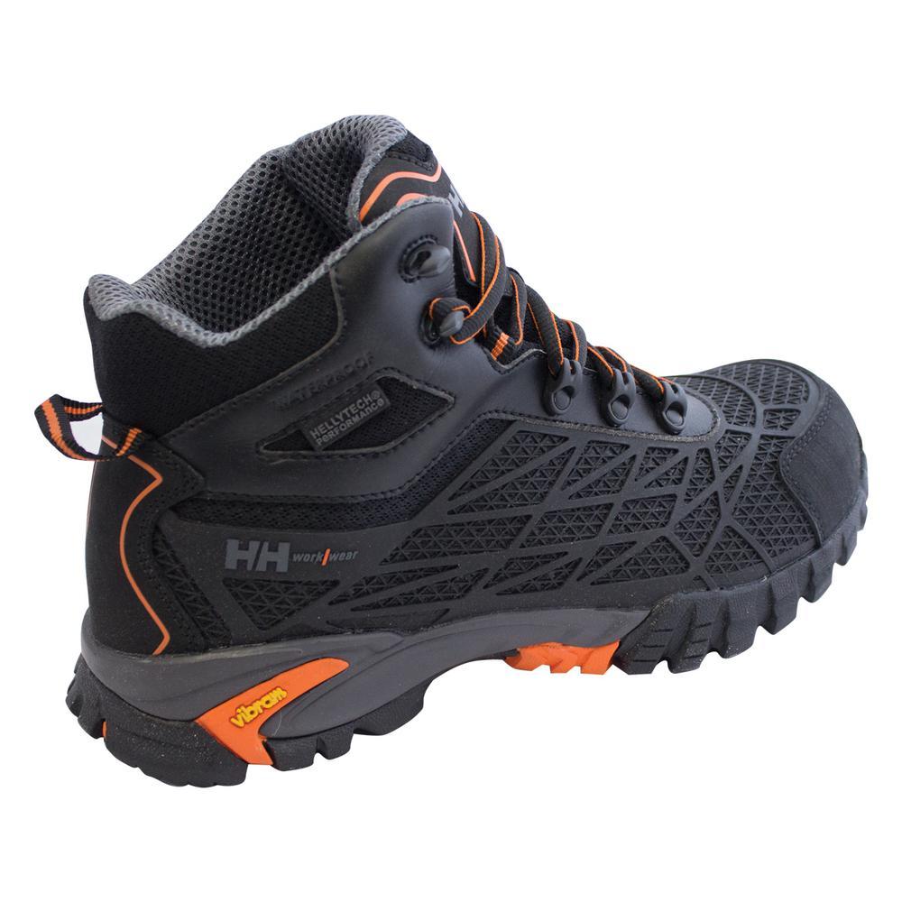 39418b76762 Helly Hansen Terreng Mid Men's Size 9 Black/Orange Nylon Mesh Puncture  Resistant Waterproof Composite Toe Work Boot