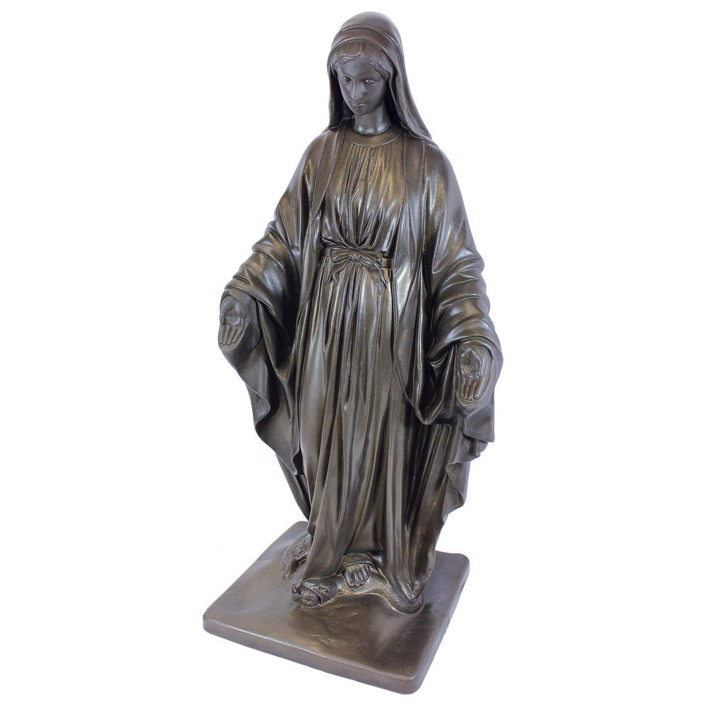 Bronze Color Virgin Mary Lawn And Garden Statue