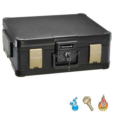 0.38 cu. ft. Molded Fire/Water Chest with Key and Double Latch Lock