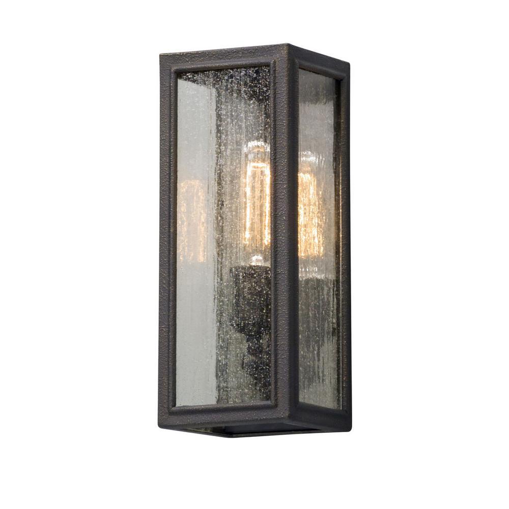 Dixon 1-Light Vintage Bronze Outdoor Wall Mount Lantern