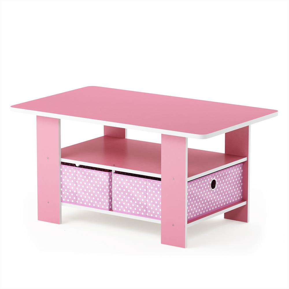 Home Living Pink Bin Drawer Coffee Table