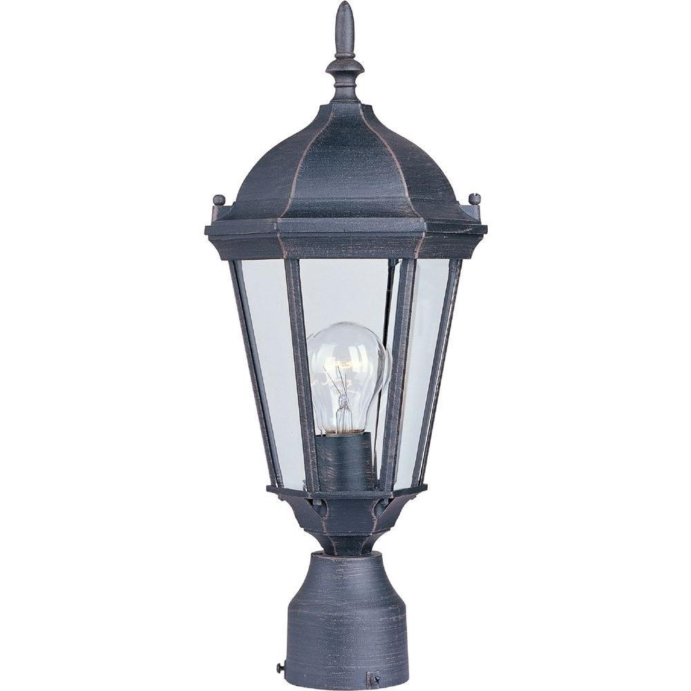Maxim Lighting Westlake 1-Light Rust Patina Outdoor Pole/Post Mount