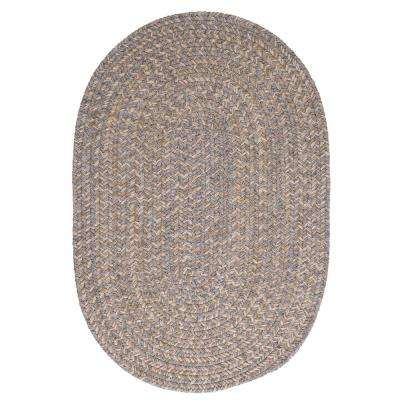 Cicero Gray 2 ft. x 4 ft. Braided Oval Area Rug