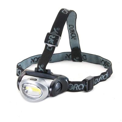 3 AAA COB LED Headlight with Adjustable Strap (3-Pack)