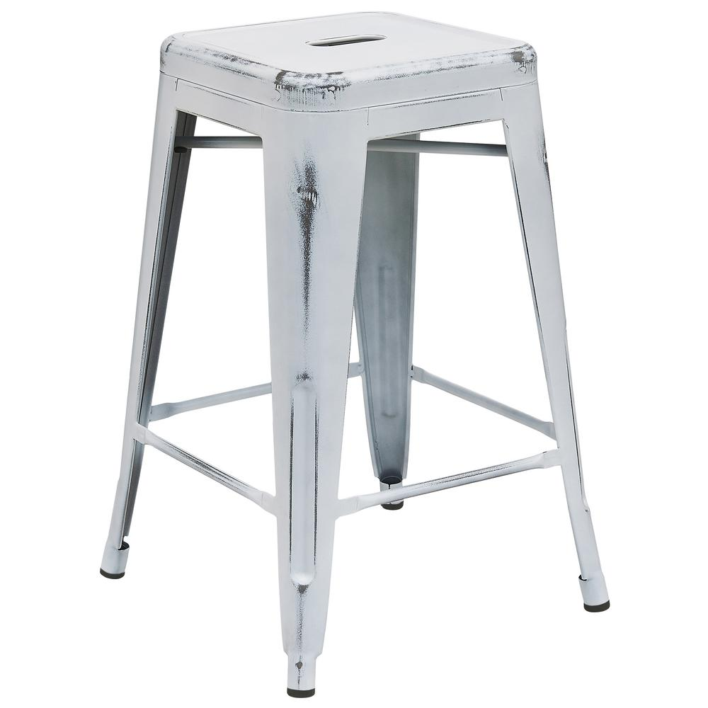 distressed metal furniture. Distressed White Bar Stool Distressed Metal Furniture