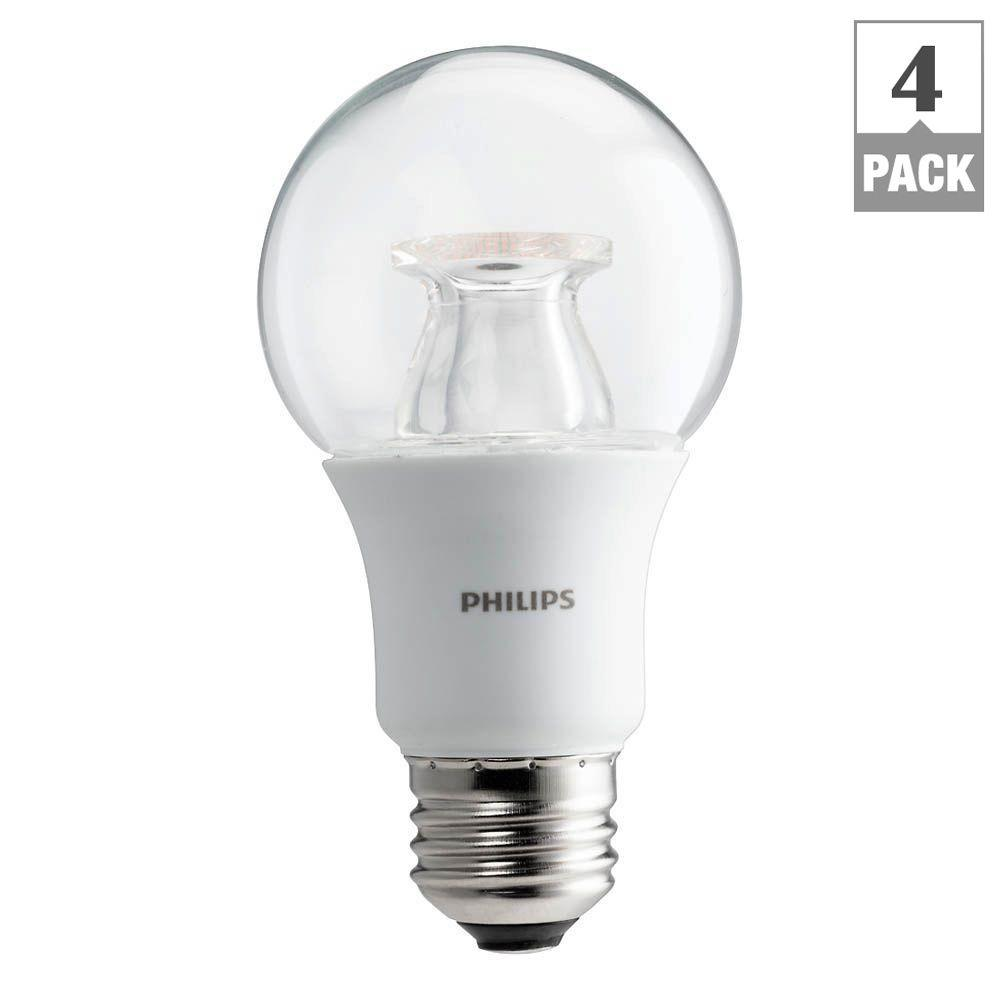 Philips 60w equivalent soft white clear a19 dimmable led with warm philips 60w equivalent soft white clear a19 dimmable led with warm glow light effect light bulb 458828 the home depot parisarafo Gallery