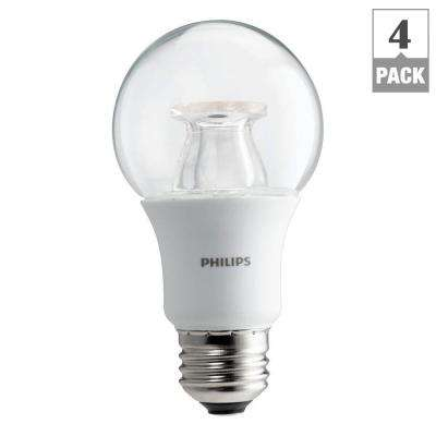 60W Equivalent Soft White Clear A19 Dimmable LED with Warm Glow Light Effect Light Bulb (4-Pack)