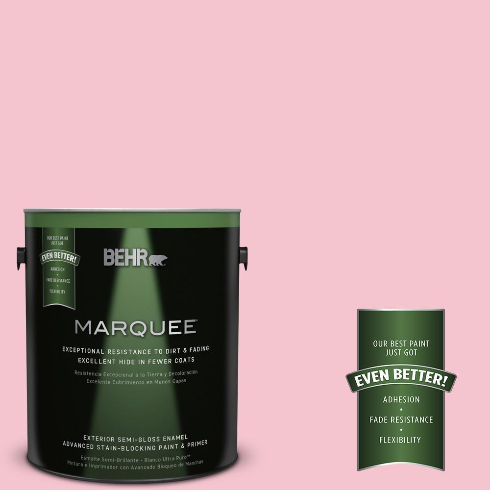 BEHR MARQUEE 1-gal. #P150-2 Energetic Pink Semi-Gloss Enamel Exterior Paint