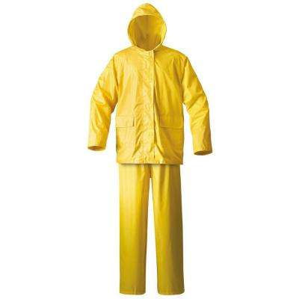 Mens Simplex 2X-Large Yellow Rainsuit