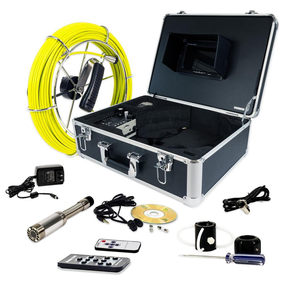 Video Snake 130 ft. Pipe Inspection Color LED Camera with Transmitter