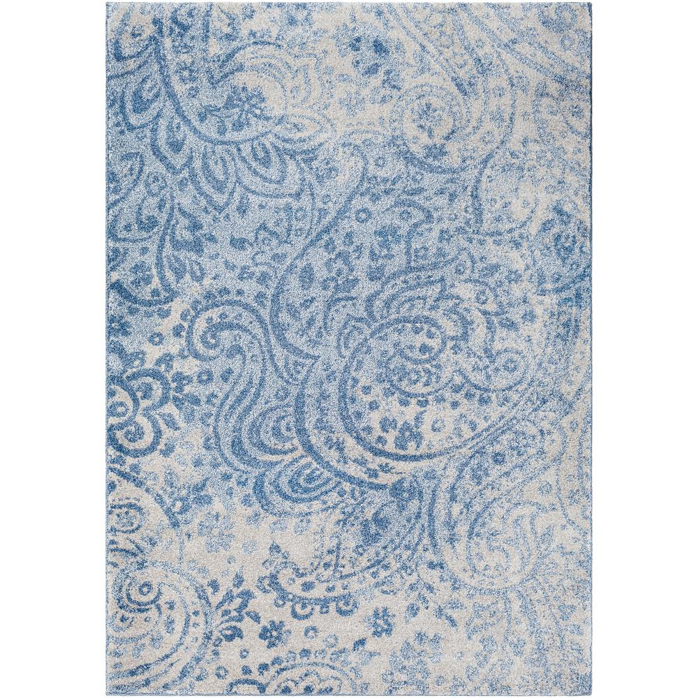 Surya baylee bright blue 2 ft x 3 ft 3 in area rug for Bright blue area rug