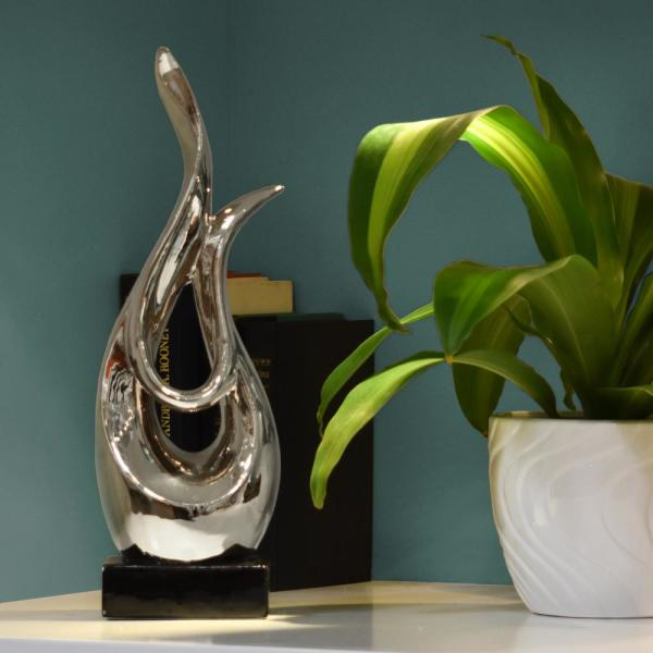 Urban Trends Collection 16 in. H Abstract Decorative Sculpture in Gray