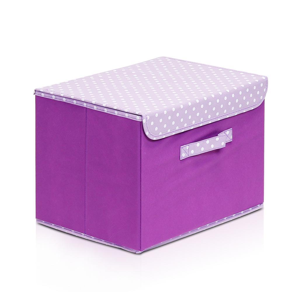 2 Llytech Inc Non Woven Fabric Purple Storage Bin