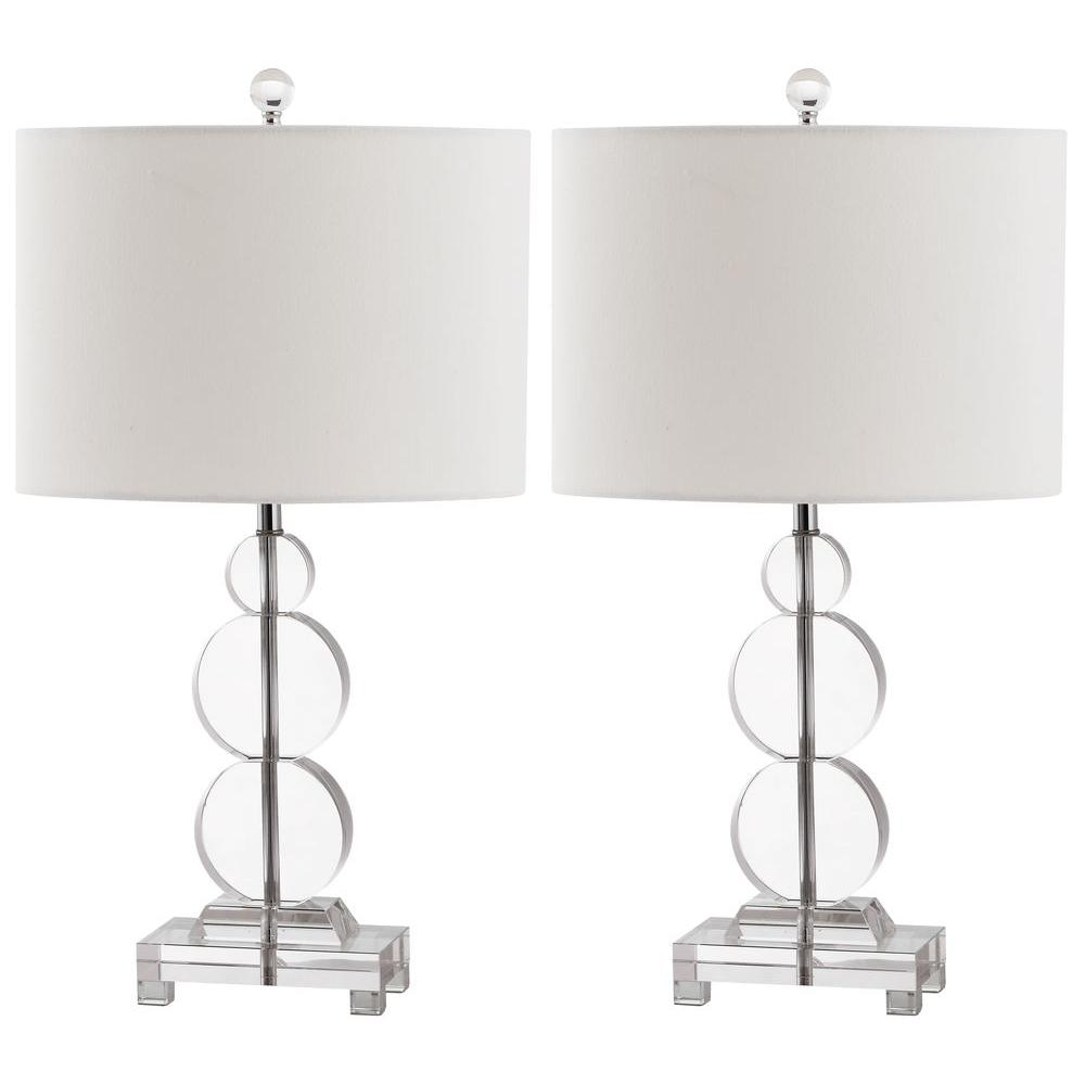 Safavieh moira 23 in clear crystal table lamp set of 2 lit4097a clear crystal table lamp set of 2 aloadofball