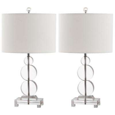 Moira 23 in. Clear Crystal Table Lamp (Set of 2)