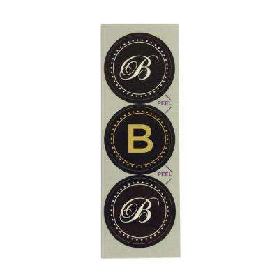 B Monogram Decorative Bathroom Sink Stopper Laminates (Set of 3)