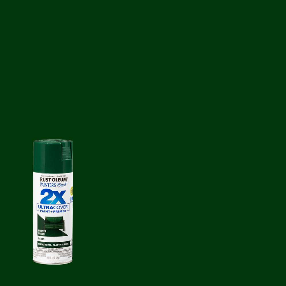Rust-Oleum Painter's Touch 2X 12 oz. Gloss Hunter Green General Purpose Spray Paint