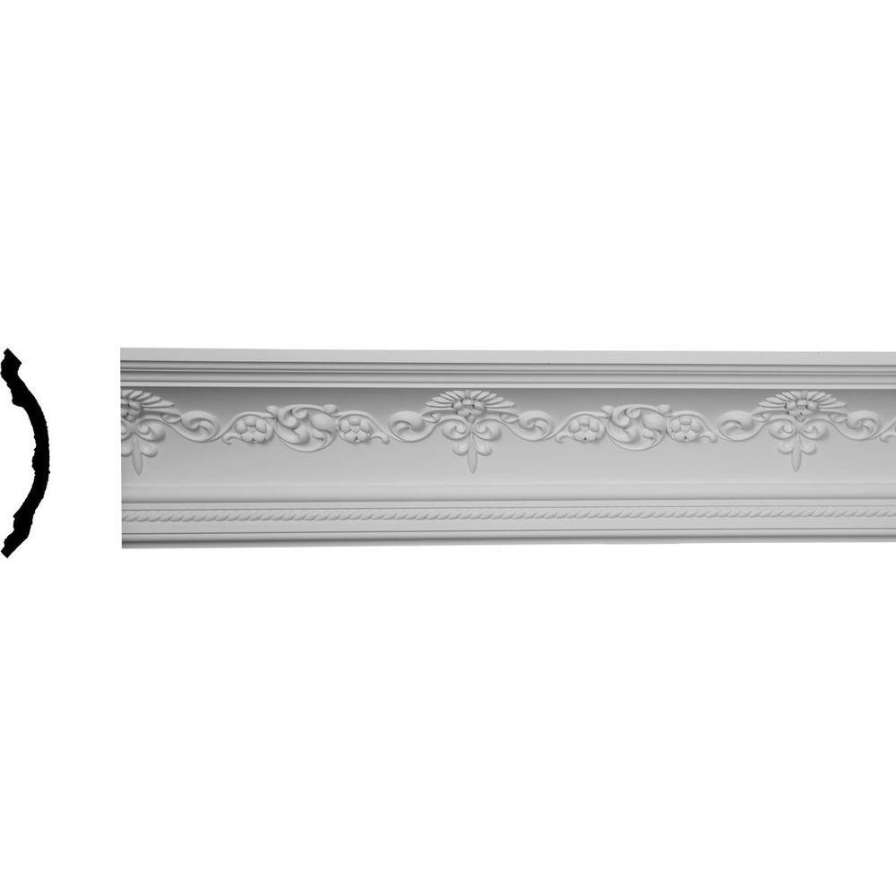 6-1/4 in. x 6-1/4 in. x 94-1/2 in. Polyurethane Sydney Crown Moulding