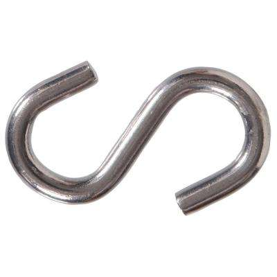 0.307 in. x 3 in. Stainless Steel S-Hook (10-Pack)