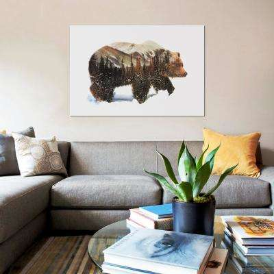 """12 in. x 8 in. """"Arctic Grizzly Bear"""" by Andreas Lie Printed Canvas Wall Art"""