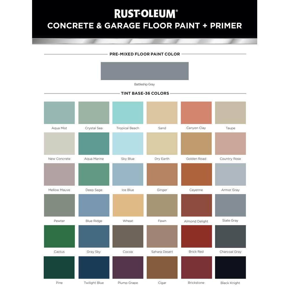 Rust Oleum 1 Gal Deep Base Concrete And Floor Finish 319550 The