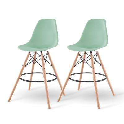 43 in. Light Green Bar Stool (Set of 2)