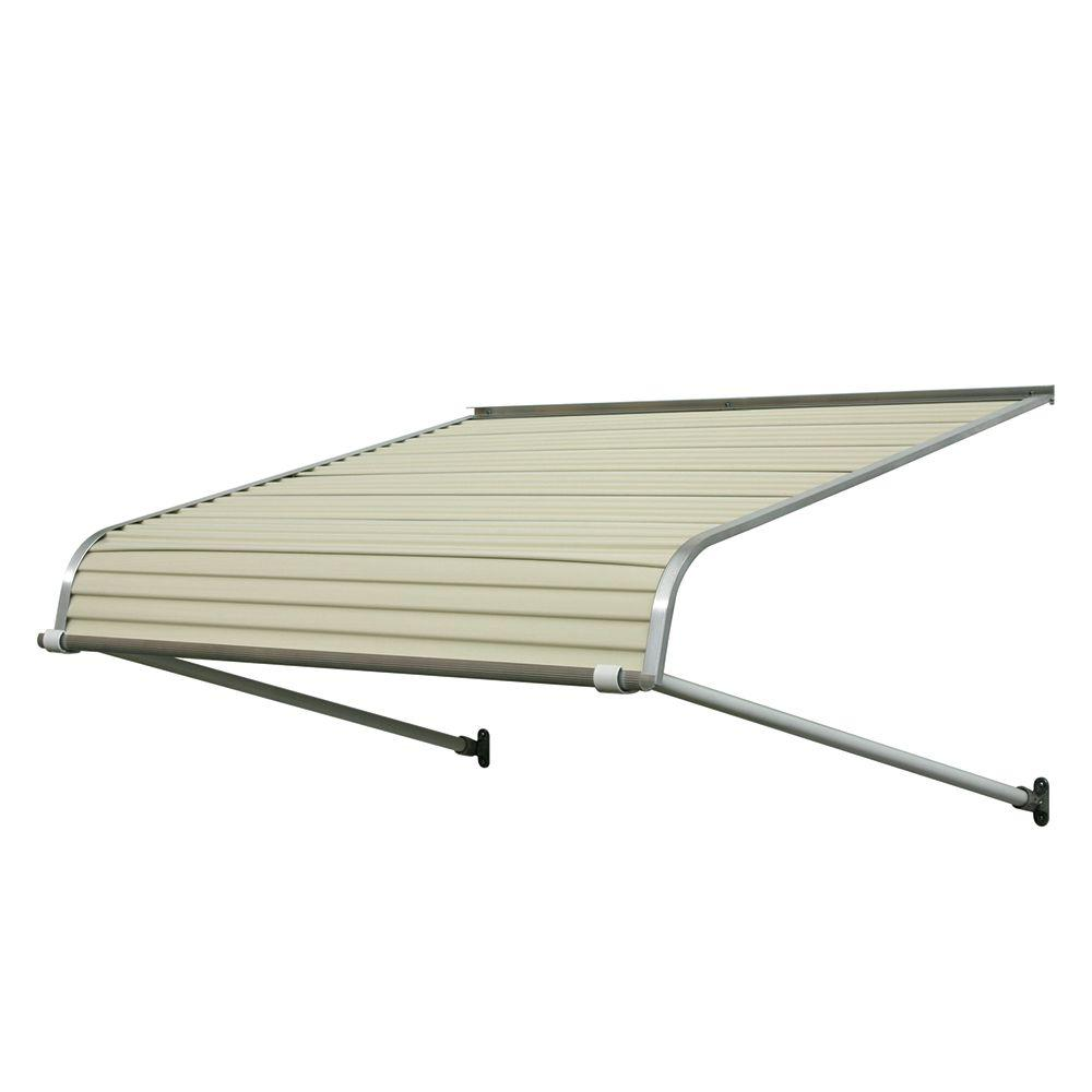 NuImage Awnings 8 Ft 1100 Series Door Canopy Aluminum Awning 18 In H