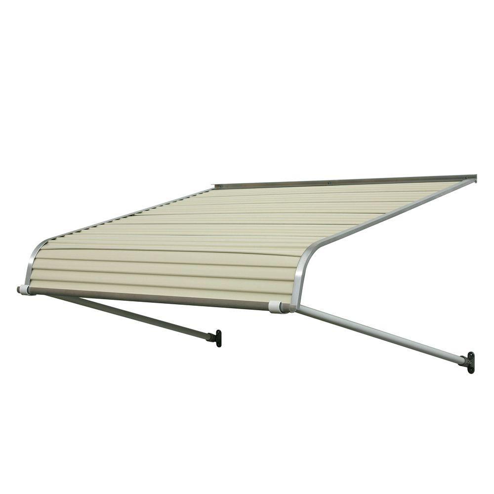 7 Ft Door Canopy Aluminum Awning Sun Rain Snow Roof Shade ...