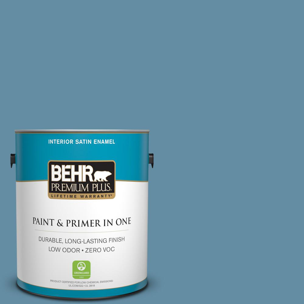 1 gal. #PPU14-04 French Court Zero VOC Satin Enamel Interior Paint
