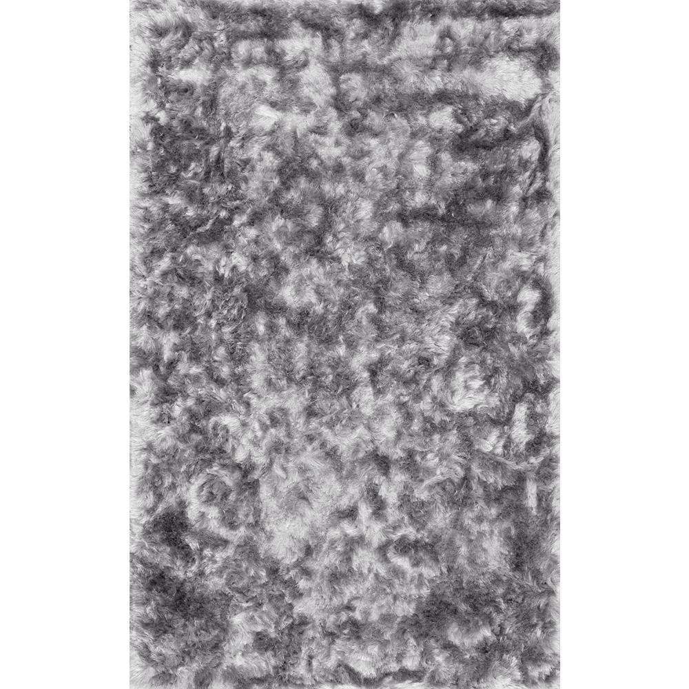 Latonia Silken Shaggy Silver 4 ft. x 6 ft. Area Rug