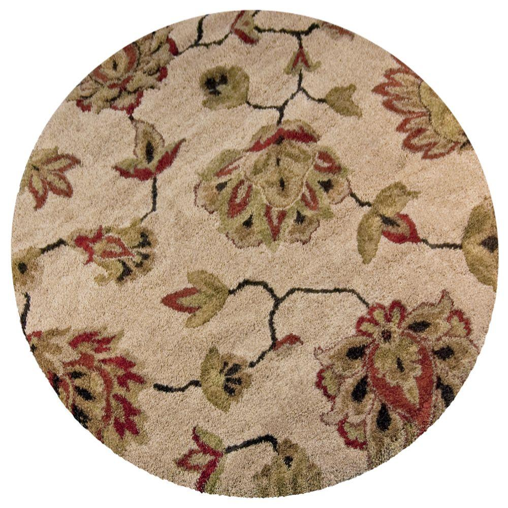 Orian Rugs Como Bisque 7 Ft 10 In Round Area Rug 238587 The Home Depot