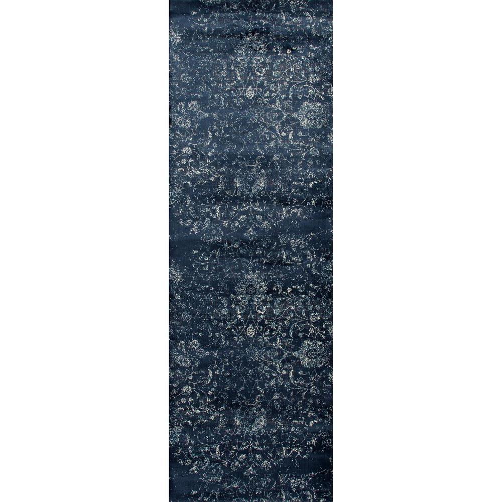 Karelia Ethereal Steel Blue 3 ft. x 8 ft. Runner Rug