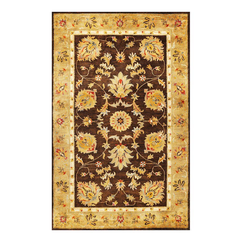 Kas Rugs Fashion Mahal Mocha/Gold 9 ft. x 13 ft. Area Rug