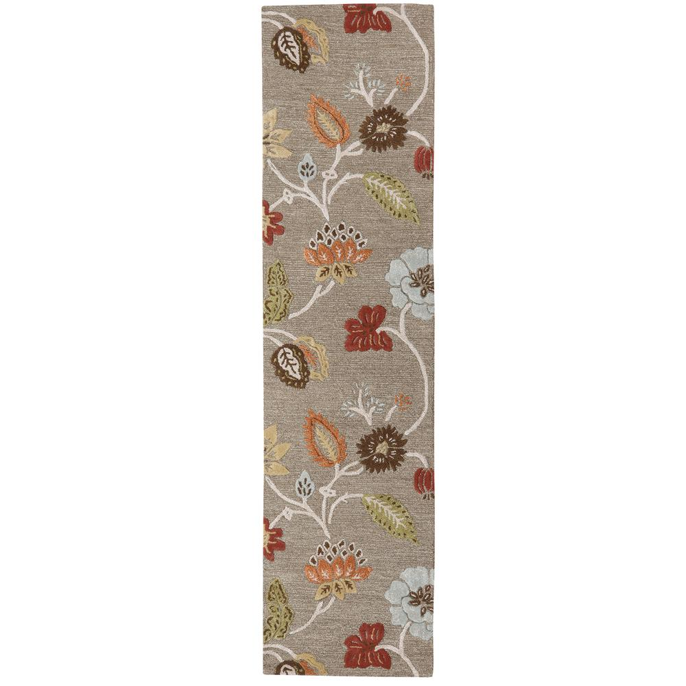 Portico Grey Brown 2 ft. 6 in. x 10 ft. Runner