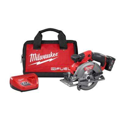 M12 FUEL 12-Volt Lithium-Ion 5-3/8 in. Cordless Circular Saw Kit