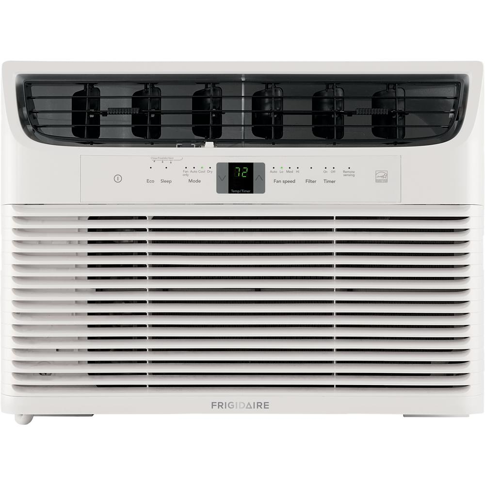 Frigidaire 12,000 BTU Window-Mounted Room Air Conditioner Use less energy than standard air conditioners reducing your energy usage, and ultimately lowering your utility bills. Features three different fan speeds, for more cooling flexibility. Allows you to precisely control the temperature and fan speed from across the room.
